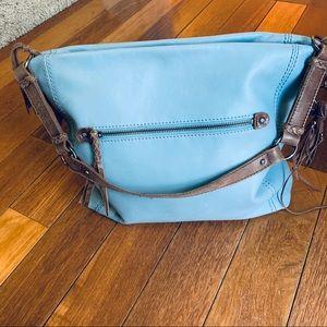 The Sak Light Blue Leather Ashland Hobo